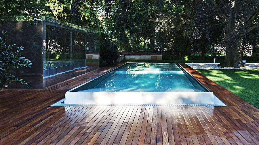 gartengestaltung modern mit pool. Black Bedroom Furniture Sets. Home Design Ideas